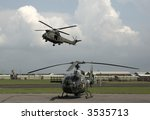 Two British Army Helicopters