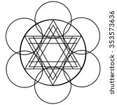 modern geometrical triangle... | Shutterstock .eps vector #353573636