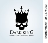 dark king logo skull logo...