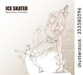 illustration of ice skater.... | Shutterstock .eps vector #353580596