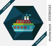transportation ferry flat icon... | Shutterstock .eps vector #353584262