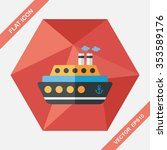 transportation ferry flat icon... | Shutterstock .eps vector #353589176
