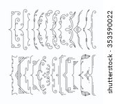 set of line monochromatic... | Shutterstock .eps vector #353590022