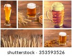 collage with oktoberfest beer... | Shutterstock . vector #353593526