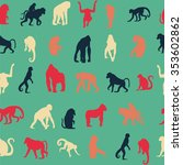 seamless pattern background... | Shutterstock .eps vector #353602862