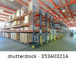 mobile aisle racking system in... | Shutterstock . vector #353603216