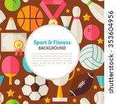 sport and fitness pattern... | Shutterstock .eps vector #353604956