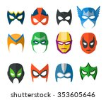 Set Of Vector Super Hero Masks...