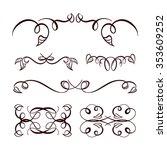 set of elegant floral elements... | Shutterstock .eps vector #353609252