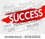 success word cloud  fitness ...   Shutterstock .eps vector #353610032