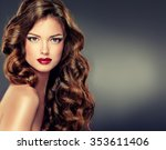 Постер, плакат: Beautiful model with long