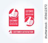customer satisfaction labels | Shutterstock .eps vector #353612372