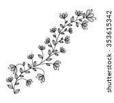 floral design element   Shutterstock .eps vector #353615342