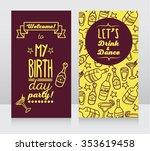 invitation for birthday party ... | Shutterstock .eps vector #353619458