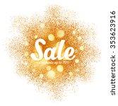 golden sand splash vector sale... | Shutterstock .eps vector #353623916
