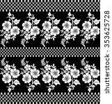 black damask vintage floral... | Shutterstock .eps vector #353625728