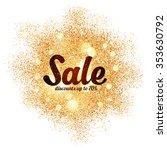 vector sale sign on golden... | Shutterstock .eps vector #353630792