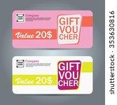 voucher template gift... | Shutterstock .eps vector #353630816