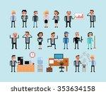 Set Of Pixel Art People Icons ...