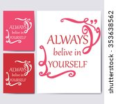 typography poster with quote.... | Shutterstock .eps vector #353638562