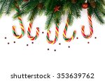 christmas tree branches with... | Shutterstock . vector #353639762