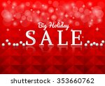 sale on red background | Shutterstock .eps vector #353660762