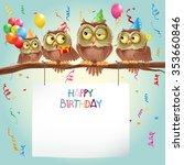 happy birthday banner | Shutterstock .eps vector #353660846