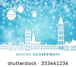 christmas greeting card  london ...   Shutterstock .eps vector #353661236