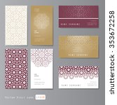 Visit Cards Set With Arabic...