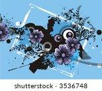 floral grunge vector background.