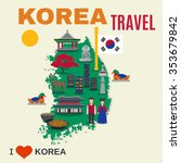 worldwide travel poster for... | Shutterstock .eps vector #353679842