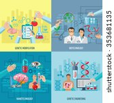 biotechnology icons concept... | Shutterstock .eps vector #353681135