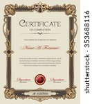 certificate of completion... | Shutterstock .eps vector #353688116
