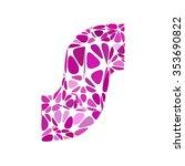 purple alphabet cell style ... | Shutterstock .eps vector #353690822