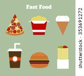 fast food and street food set.... | Shutterstock .eps vector #353691272