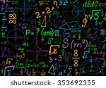 multicolored mathematical... | Shutterstock .eps vector #353692355