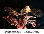 fresh meat fried on a grill | Shutterstock . vector #353698982