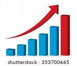business profit   graph up ... | Shutterstock .eps vector #353700665