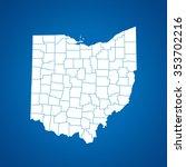 map of ohio | Shutterstock .eps vector #353702216