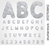 low poly alphabet and number on ... | Shutterstock .eps vector #353703842