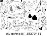 death doodles | Shutterstock .eps vector #35370451