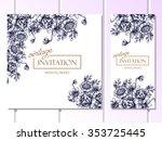 vintage delicate invitation... | Shutterstock .eps vector #353725445