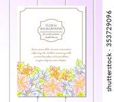 romantic invitation. wedding ... | Shutterstock .eps vector #353729096
