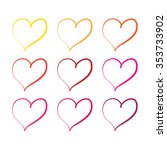 vector hearts set | Shutterstock .eps vector #353733902