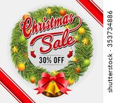 christmas sale promotional... | Shutterstock .eps vector #353734886