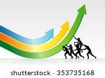 bending economic growth... | Shutterstock .eps vector #353735168