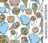 seamless pattern of sweet