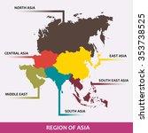 area of each asian region... | Shutterstock .eps vector #353738525