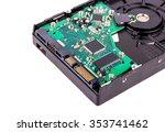 the chip hard disk and... | Shutterstock . vector #353741462