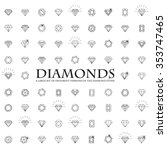 diamonds icons set  design...